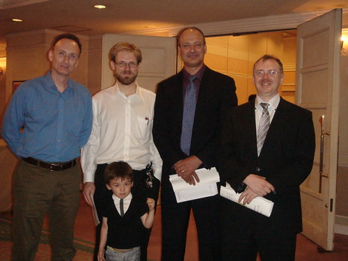 Mario McKenna, Quint Oga-Baldwin and His Son, Me and Joe Swift at Kanzaki Sensei's Celebration