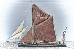 Light airs (Late Developer) Tags: summer sailing antique calmsea sailingbarge lightairs sailingbargecalm