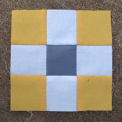 Saturday, 4/7 (amyehodge) Tags: quilt squares quilting block ninepatch 9patch piecing handsewing handpiecing