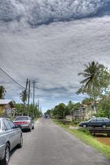 Buxton Street (*Amanda Richards) Tags: street trees cars clouds buxton guyana hdr