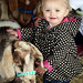 Zoey Bills of Santa Rosa makes a friend with a goat