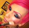 Jeffree Star (AmberVonStar) Tags: pink blue hair star eyes contacts lipstick blush perfection jeffree blusher