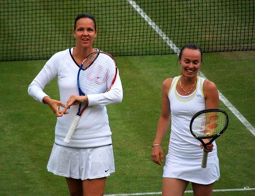 Gigi Fernandez - Lindsay Davenport & Martina Hingis