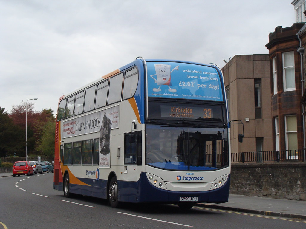 Stagecoach Fife 19553 SP59APU (Will Swain) Tags: bus buses station fife  stagecoach kirkcaldy