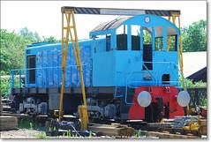 ALCO S1 Switcher 801,  Ferry Meadows,  May 17th 2014. (Bristol RE) Tags: s1 switcher ferrymeadows alco nvr bsc americanlocomotivecompany nenevalleyrailway 77120 britishsteelcorporation