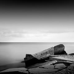 ... (alexey sorochan) Tags: longexposure blackandwhite white seascape black rocks mood waterfront odessa blacksea breakwater waterscape ndstopfilter