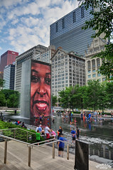 Millenium Park (Bill Maksim Photography) Tags: road winter light summer cloud house lake snow chicago building tower history water fountain sign price night spiral fire photography pier boat town bill illinois construction highway tour view michigan library sears south bears north navy july millenium bean millennium age chi heat blackhawks cubs wrigley hancock buckingham hdr willis tallest maksim eon aeon blacksox