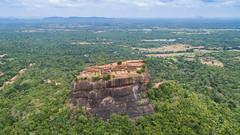 Sigiriya lion rock aerial