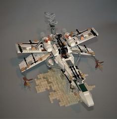Steampunk X-wing (adde51) Tags: foitsop adde51 lego moc xwing steampunk starwars star wars plane steamwars