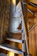 The stairs narrow (paul indigo) Tags: belfry belgium brugge halletoren paulindigo architecture rope stairs wood