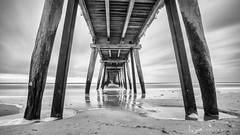 2016 - Landscape - Sunset - Largs - 09_10_05 - BW.jpg (stevenlazar) Tags: largs beach landscape sunset australia 2016 adelaide jetty ocean southaustralia clouds