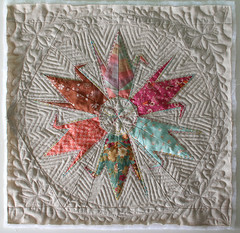 Crane Star - WIP (PatchworkPottery) Tags: pattern quilt crane handmade embroidery pillow quilted patchwork paperpiecing origamicrane freemotion