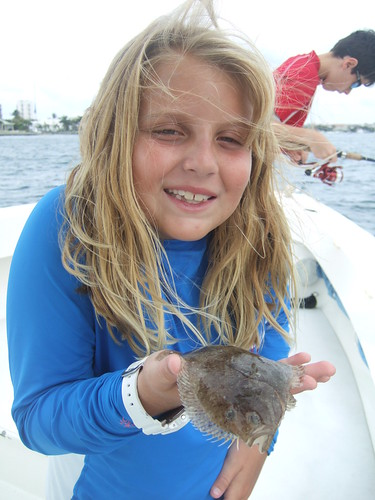 Bella with flounder