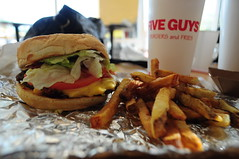 Best Burgers in Town. (Monica Krissy) Tags: tomato bacon yum coke lettuce cheeseburger fries fiveguys
