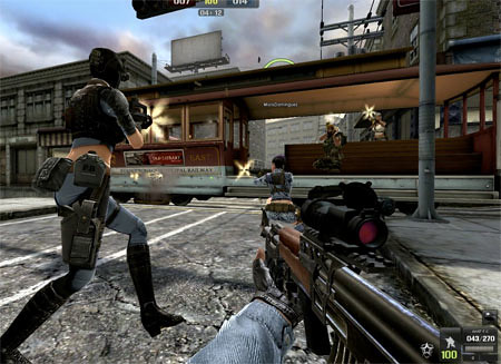 An in-game screenshot of Point Blank's gameplay - blankpixels.com