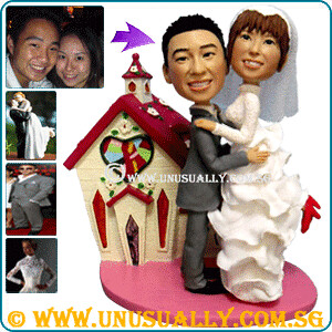 Personalized 3D Lovely Couple Wedding Figurines