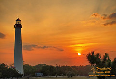 Cape May NJ Lighthouse at sunset (PhotosToArtByMike) Tags: sunset lighthouse seascape landscape seaside newjersey sundown scenic nj capemay capemaynewjersey landscapephotograph lighthousecapemaynj