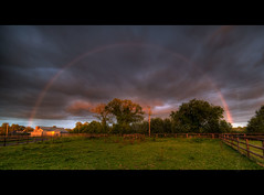 Late evening rainbow (PhotoXL) Tags: ireland rainbow arcobaleno hdr doppioarcobaleno fullrainbow irishsunset irishrainbow nikond700 irishlight samyang14mmf28 rainbowinhdr dryrainbow