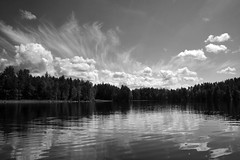 Monochromatic (Miguel Virkkunen Carvalho) Tags: travel light shadow sky lake reflection nature water clouds composition forest canon suomi finland landscape photography scenery europe outdoor north scene monochromatic nordic scandinavia northern waterscape northerneurope päijänne canoneos1000d mygearandme mygearandmepremium