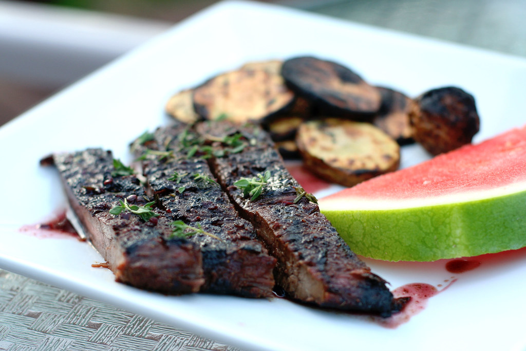 Pomegrante Steak