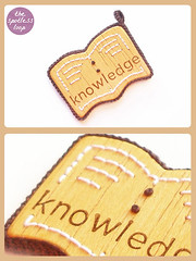 "Braille Pendant ""Knowledge"""
