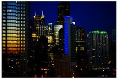 Soft Focus Nocturne (swanksalot) Tags: chicago skyline 50mm availablelight nocturne rivernorth faved swanksalot 42ndward sethanderson