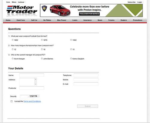 Motor Trader : Liverpool Football Club Asia Tour 2011 Contest