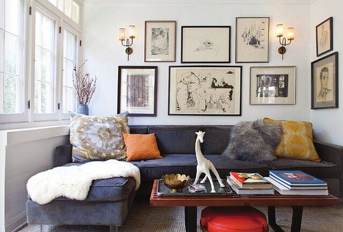 Mid Century Modern Eclectic Living Room house of honey {eclectic mid-century vintage modern living room