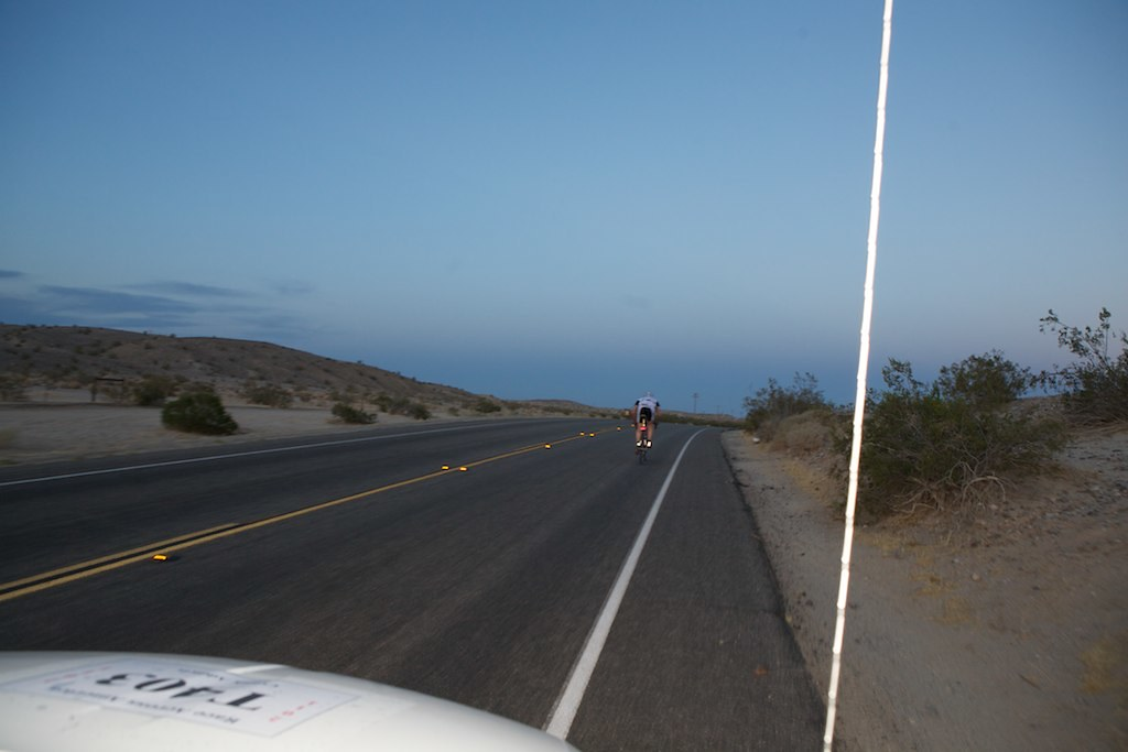 James powers across the flats of California, peaking at over 40mph