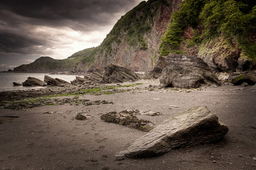 481/1000 - Large Rock on Woody Bay 2 by Mark Carline