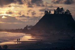 Beach bones and a sunset (sparth) Tags: trees beach silhouette june canon dead la sand pacific northwest olympicpeninsula bones pacificnorthwest push olympic trunks peninsula pnw plage 70200 f4 lapush deadtrees 70200f4l 2011 5dmkii