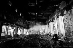 Heating plant (reptilescream) Tags: bw abandoned derelict heatingplant