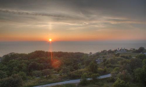 Kvällens utsikt från Galgberget