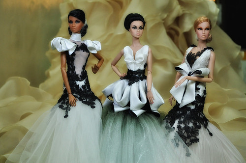 The Brides In Black and Cream