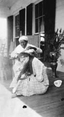 Mrs. Amos Davis and former slave Charlotte