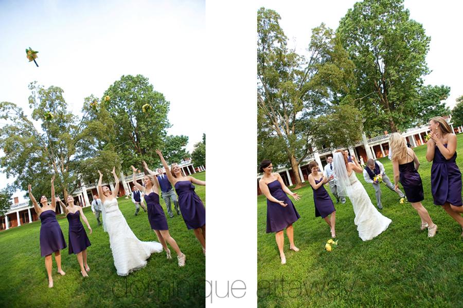 UVA lawn bridal party