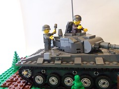 Destroying the tank. (GreenBeret) Tags: lego ww2 brickarms