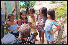 Me and the Village Girls (GlobalGoebel) Tags: travel girls brazil southamerica girl rio kids canon children photography eos amazon village negro powershot brazilian 5d pointandshoot amazonas markii amazonia rionegro mark2 sx150 sx150is