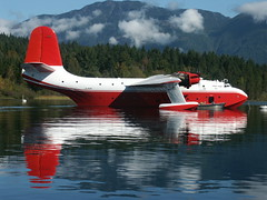 649 22-9-05 Sproat Lake Mars C-FLYL full side on 1 (Proplinerman) Tags: mars martin aircraft flyingboat sproatlake firebomber timberwest hawaiimars cflyl
