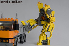 Land Walker - Being Bad, Being Naughty... (IcedPlusCoffee) Tags: cute lego hard suit mecha moc hardsuit