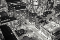 Black and White City (tomms) Tags: city cambridge urban white toronto black hotel downtown intersection rooftopping