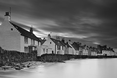 Houses At High Tide (been snapping) Tags: ocean uk longexposure sea blackandwhite seascape water monochrome canon mono coast scotland mar seaside fife sigma coastal 7d oceano pittenweem schotland ecosse eastneuk fifecoastalwalk escosia