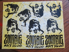prints with PUA background (andres musta) Tags: art print sticker stickerart zombie stickers block squad adhesive andres zas musta zombieartsquad