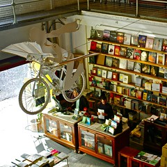 Ler Devagar (Slow reading) bookshop, Lisbon Factory, Alcantara, Lisbon, Portugal (pedrosimoes7) Tags: art portugal bicycle shop reading lisbon books fromabove bookshop livraria leitura alcantara ferropool thecontinuum flickrduel lerdevagar slowreading lisbonfactory theflyingbicycle