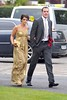 John O'Shea and wife The wedding of Irish footballer Glenn Whelan to Karen Byrne held at St. Philomena's Church in Palmerstown Dublin, Ireland