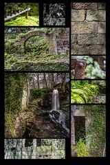 Lumsdale montage (jim-green777) Tags: uk longexposure england water nikon stream britain derbyshire peakdistrict brook fullframe fx derby derbyshiredales 2014 d610 lumsdale nd110 extremeexposure bentlybrook
