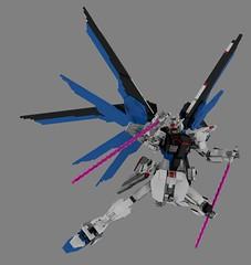 Lego Freedom Gundam Version 3.5: Beam Sabres (Mithryl_Dlarix) Tags: anime mobile digital freedom robot 3d model war suits lego designer render space military manga seed battle beam robots suit sabre destiny scifi gundam mecha mechs cad mech povray ldd gundams himat lddtopovray