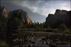 Gates of the Valley at Night (Mike Matenkosky) Tags: ca moon twilight yosemite elcapitan bridalveilfalls gatesofthevalley