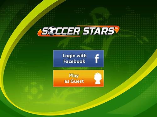 Soccer Stars Login: screenshots, UI