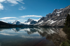 Bow Lake (tylerhuestis) Tags: lake canada reflection nature banff icefieldsparkway crowfootglacier